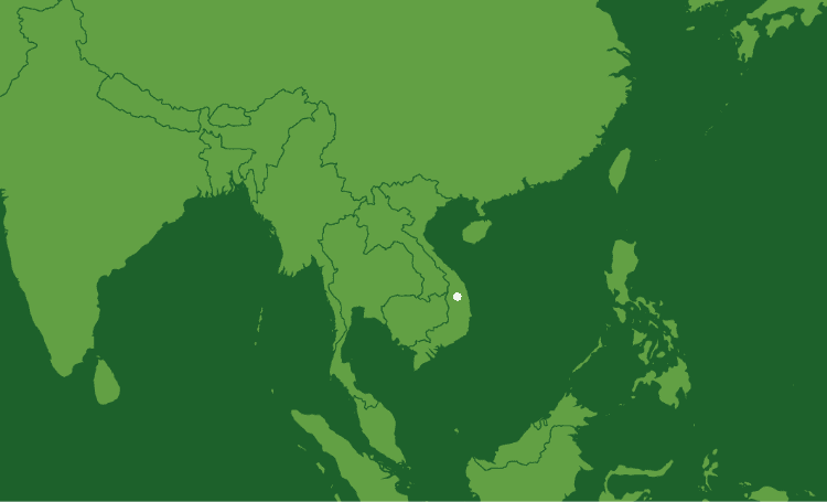 Map showing our locations in Vietnam